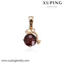 32879 Hot vente belle dames bijoux cercle en forme de pendentif en zircon cubique coloré ensemble pendentif