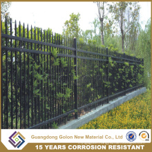 Powder Coated Fence Steel Panel, Modular Metal Fence