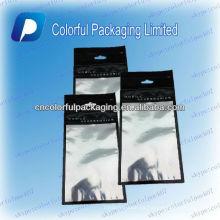 Bolsos de empaquetado plástico del bolso / ziplock de la cubierta del teléfono móvil de la venta caliente con la ventana / el bolso ziplock claros