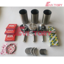 excavator L3E engine gasket bearing piston ring liner