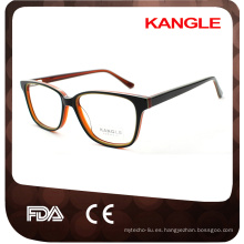 unisex tres capas colores sólidos marcos de anteojos