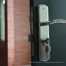 Suministro de todo tipo de 4 en 1 manija de puerta con cerradura de puerta juego completo