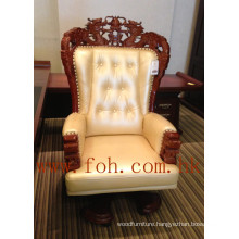 Chesterfield Leather Chinese Dragon Carving Boss CEO President Executive Office Chair (FOHA-08)
