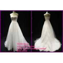 Lace Stoff für Brautkleider Illusion zurück über Spitze Kleid Schatz Brautkleider BYB-14594