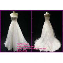 Lace Fabric for Wedding Dresses Illusion Back Over Lace Dress Sweetheart Bridal Gowns BYB-14594