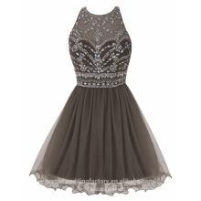 Vestidos de partido del cuello de Tulle O del diseñador corto atractivo de Alibaba o vestido de noche LC05