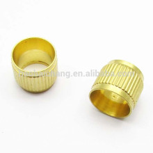 Straight knurling brass bushing for switch