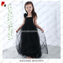wholesale black tulle maxi dress for toddler