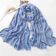 Nouvelle écharpe à rayures 100% Rayon Viscose pour filles