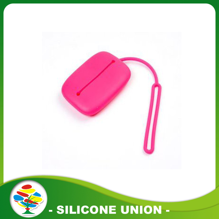 red silicone key bag