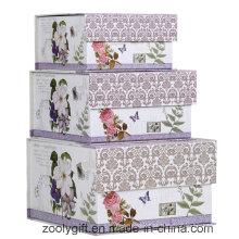 Caixa de armazenamento de papel quadrado de design exclusivo com aba magnética