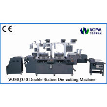Двухместный станция Label штамповать машина