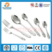 6pcs best sale product stainless steel gift flatware , metal spork