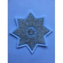 Parches de bordado de estrellas con cuentas de flores hechas a mano de cristal