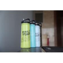 Botella de agua al aire libre de los deportes al aire libre de la pared del acero inoxidable Frasco Ssf-780