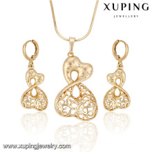 63917 Xuping fashion new designed gold plated women set jewelry