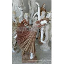 Statue en sculpture de marbre en pierre de marbre pour décoration de jardin (SY-C1298)