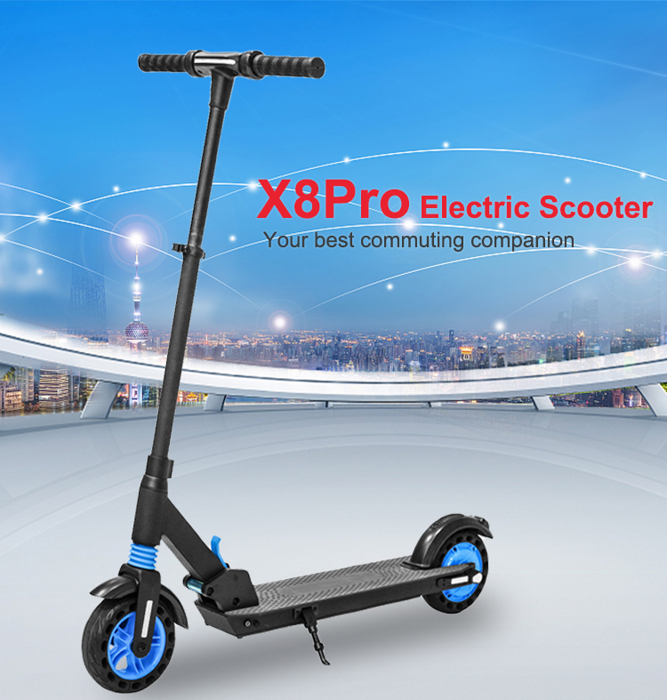 X8pro Electric Scooter Blue Details1