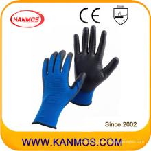 Industrial de seguridad de la mano de nylon tejidos PU guantes de trabajo revestidos (54004)