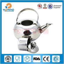 caldera de té que silba no eléctrica del acero inoxidable / caldera de cocinar industrial