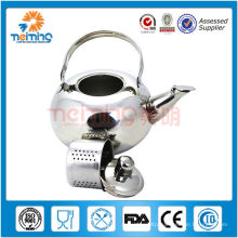 stainless steel non-electric whistling tea kettle/industrial cooking kettle
