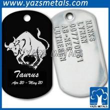 étiquettes de chien en gros en métal