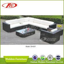 Muebles de exterior sofá de esquina Dh-831