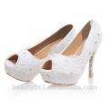 Plata caliente del zapato de la mujer de la plataforma del alto talón de la venta / zapatos rojos WS002 de la boda de los cequis