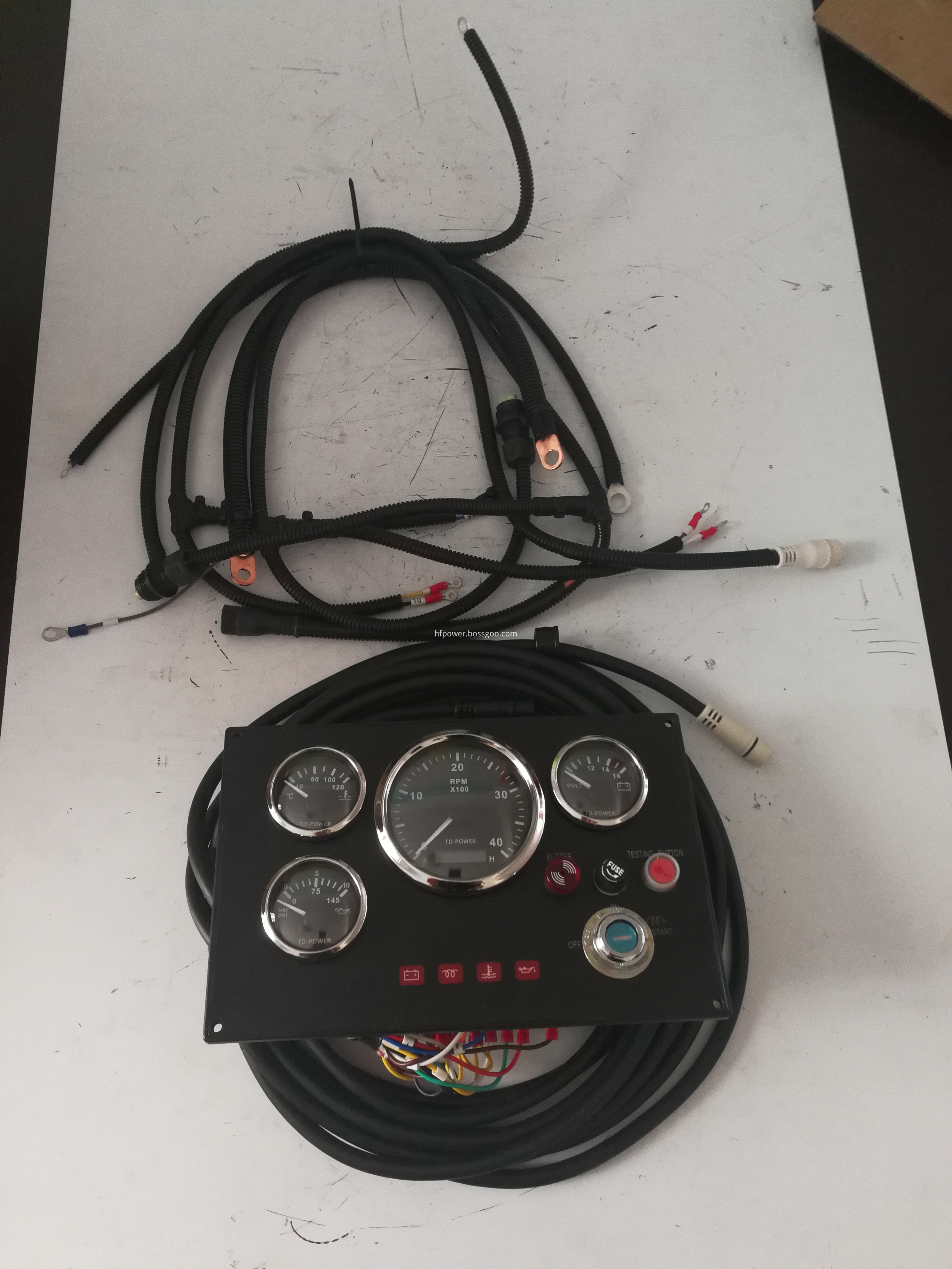 control panel and cables