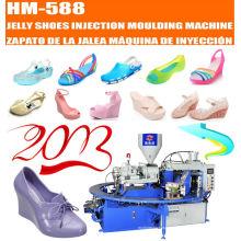 Máquina de moldeo por inyección rotativa para hacer zapatos de gelatina