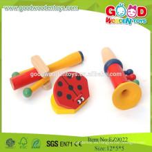 2015 Juguete educativo de madera popular de los niños del instrumento musical, juguetes de la música fijados