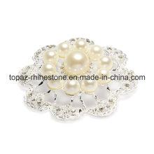 Fashion Jewelry Imitation Pearls Crystal Brooch Pin (TB-037)
