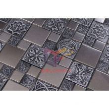 Retro Style Metal Mix Resin Stainless Steel Mosaic (CFM761)