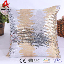 2018 latest design sequins home decorative cushion,embroidered cushion