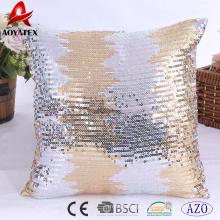 2018 mais recente lantejoulas de design para casa almofada decorativa, almofada bordada