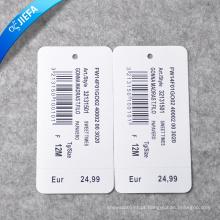 Etiqueta de papel de preço de fábrica / etiqueta de balanço para etiqueta de roupas