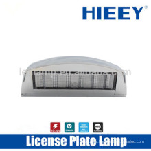 Offroad License plate lamp with E-MARK truck license plate lamp number plate lamp