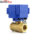 Gutentop motorized actuator valve 2 Way electric motor ball valve for Industrial