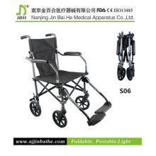 Aluminio ligero silla de ruedas manual Precio barato