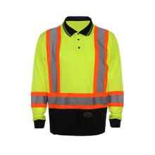 2016 Langes Hülsen-reflektierendes Sicherheits-Polo-Hemd