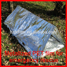 silver gold outdoor emergency tent polyester film