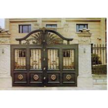 Elegante porta de cobre de segurança de aço luxuoso