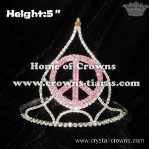 Wholesale Peach God Crystal Crowns and Tiaras