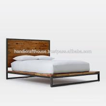 Industrial Vintage Metall und Holz King Size Bett