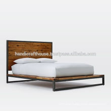 Industrial Vintage Metal and Wood King Size Bed
