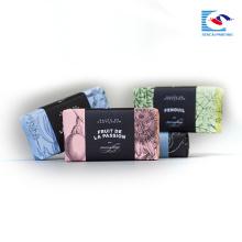 Boîte de papier simple personnalisée imprimée pour le savon parfumé et l'emballage de cadeau avec