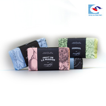 O costume simples da caixa de papel imprimiu para a embalagem scented do sabão e do presente com