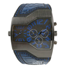 Fashion Man Alloy Quartz Watch with Multi Timezones (DYA80018)