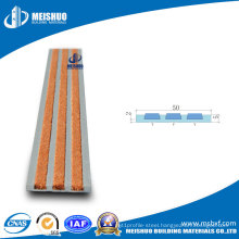 Outdoor Safety Aluminum Step Nosing with Carborundum Inserts