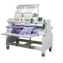12/15 colores double heads embroidery machine for cap/T-shirt/shoes/flat embroidery
